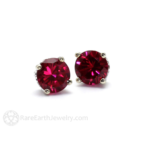 Rare Earth Jewelry July Birthstone Earrings Red Ruby