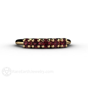Rhodolite Garnet Ring Rare Earth Jewelry