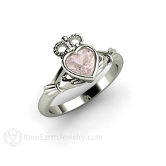Rare Earth Jewelry Platinum Claddagh Irish Bridal or Anniversary Ring