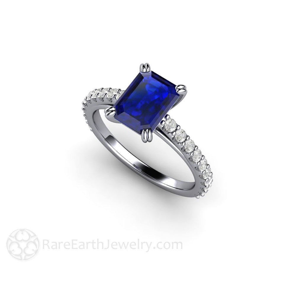 pin with blue stone antique accent cut princess engagement diamond sapphires center rings