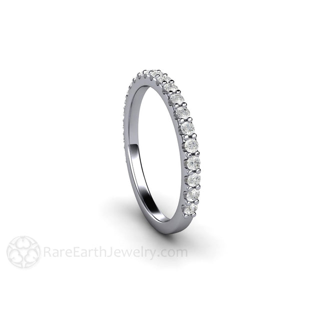 Platinum Diamond Band Rare Earth Jewelry