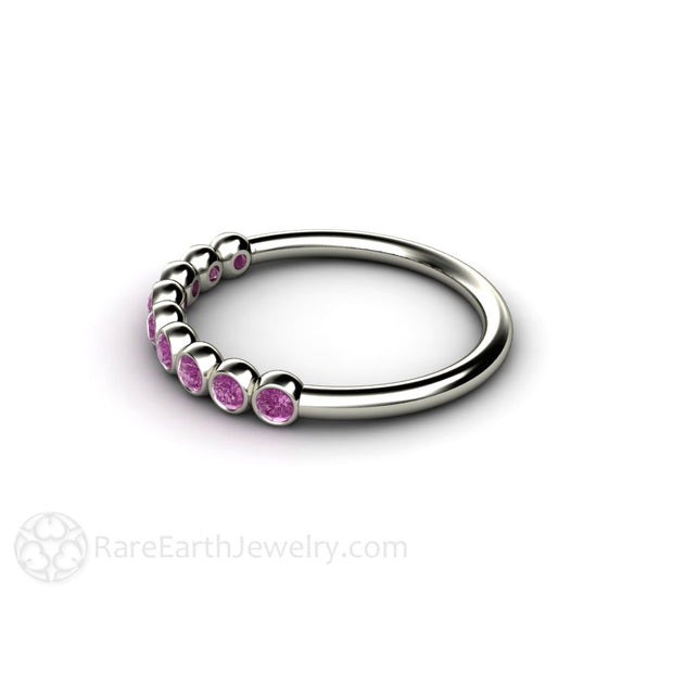 14K Purple Diamond Stacking Ring Rare Earth Jewelry