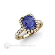 Tanzanite Engagement Ring December Birthstone Ring In Yellow Gold