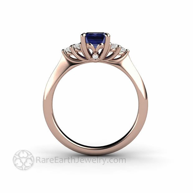 Tanzanite and Rose Gold Ring with Diamonds