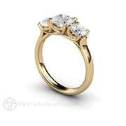 14K Diamond Alternative Engagement Ring Forever One Moissanite Rare Earth Jewelry