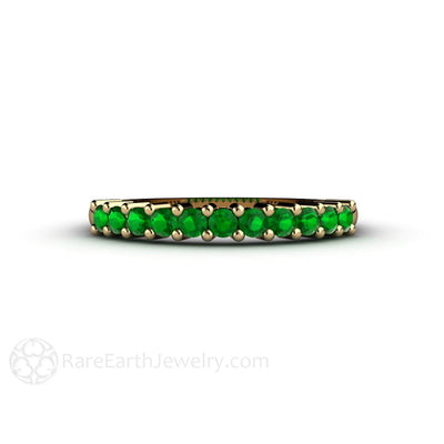 Rare Earth Jewelry Tsavorite Garnet Anniversary Band