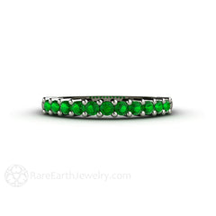 Tsavorite Garnet Stacking Band Rare Earth Jewelry