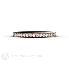 April Birthstone Ring Rose Gold Stackable Rare Earth Jewelry