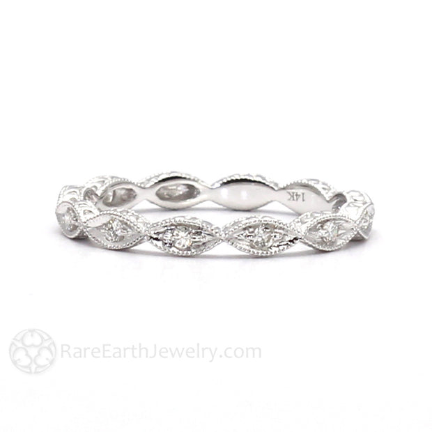 Diamond Stacking Band Stackable Wedding Ring Rare Earth Jewelry