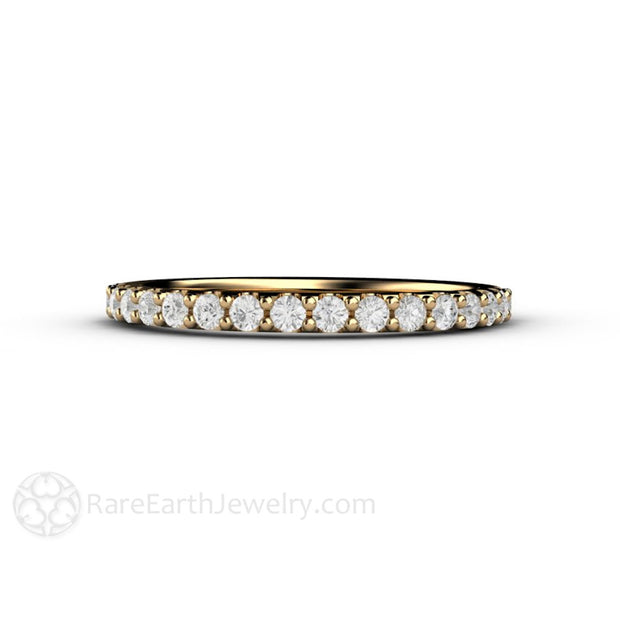 April Birthstone Diamond Ring Stacking Band Rare Earth Jewelry