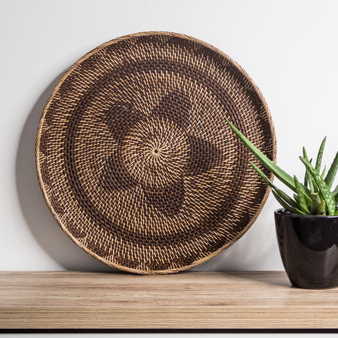 Rattan Wall Hanging - Darker Natural