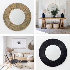 Seagrass Mirror - Black