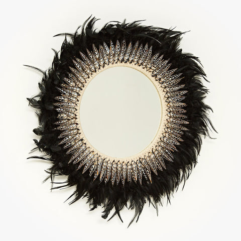 Tribal Feather Mirror