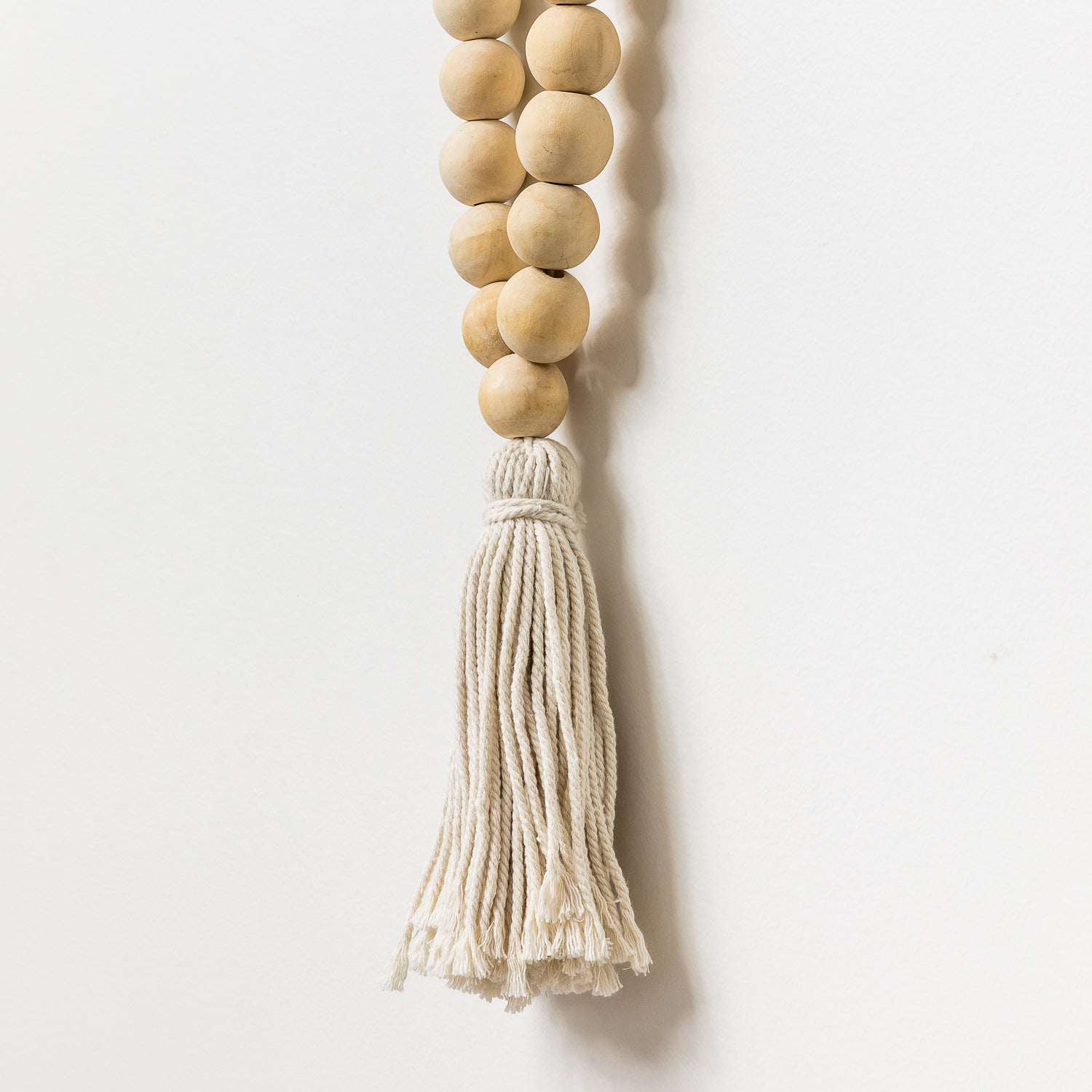 Natural Beaded Necklace With Tassel - Large