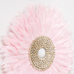 Juju Feather Wall Hanging - Soft Pink