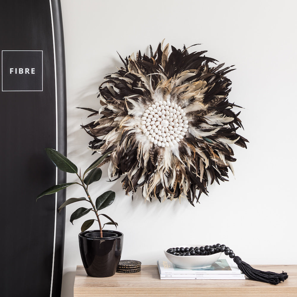 Tribal Feather Wall Hanging - Earth
