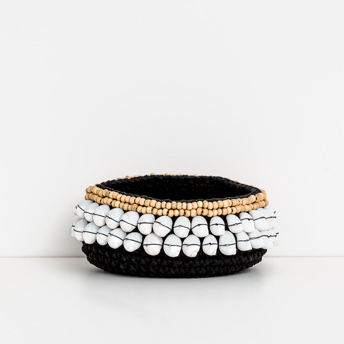 Cowrie Shell Bowl - Black