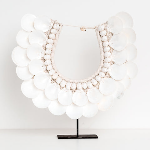 Tribal Shell Necklace - White