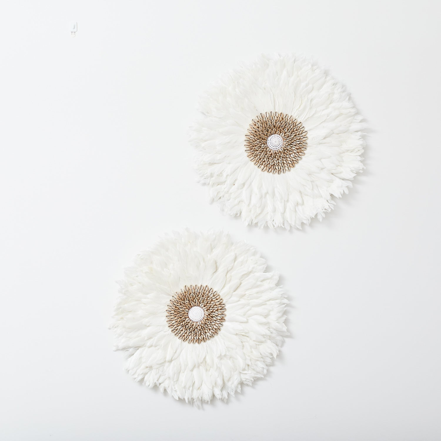 Juju Feather Wall Hanging Pure White Little Additions