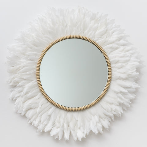 White Feather Mirror