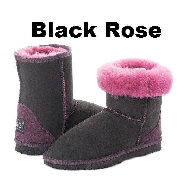 Black Rose Short Boots