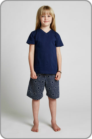 Kids Organic Cotton Sleepwear -  Unisex Dreamtime Shorts Set