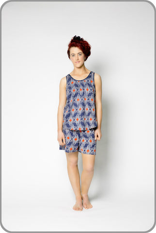 Reuben Shorts with Woven Top Set