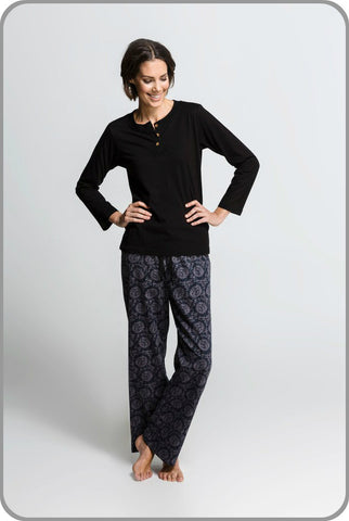 Dahlia - Long Sleeve Tee with Pants Set