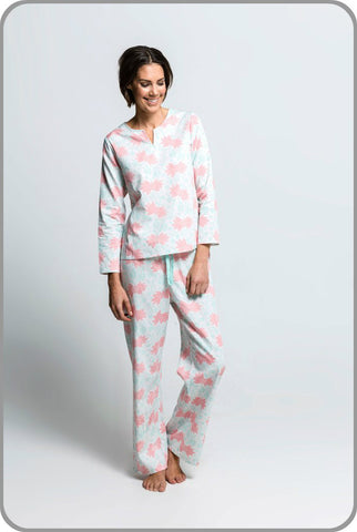 Women's Organic Cotton Pyjamas - Royal Maquis Tunic Set