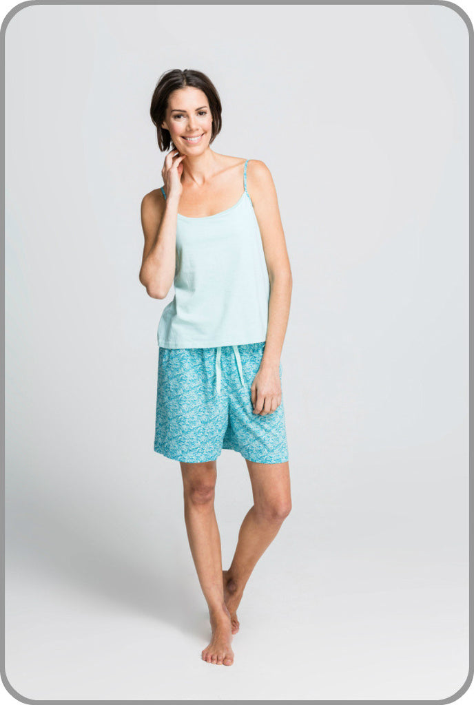 9d87be231e1 Sea Leaf - Strappy Top with Shorts Set – Moonbird Designs
