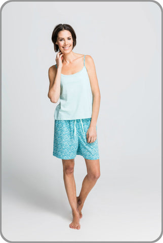 Sea Leaf Shorts with Strappy Top Set