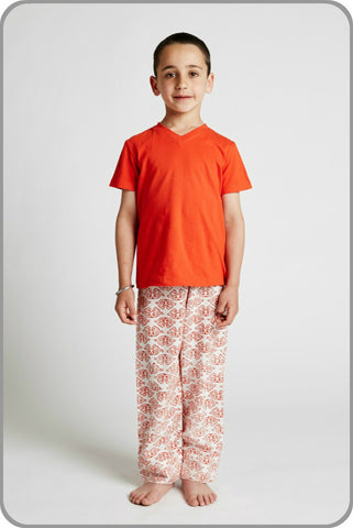 Kids Organic Cotton Pyjamas - Unisex Crabs Galore Pant set