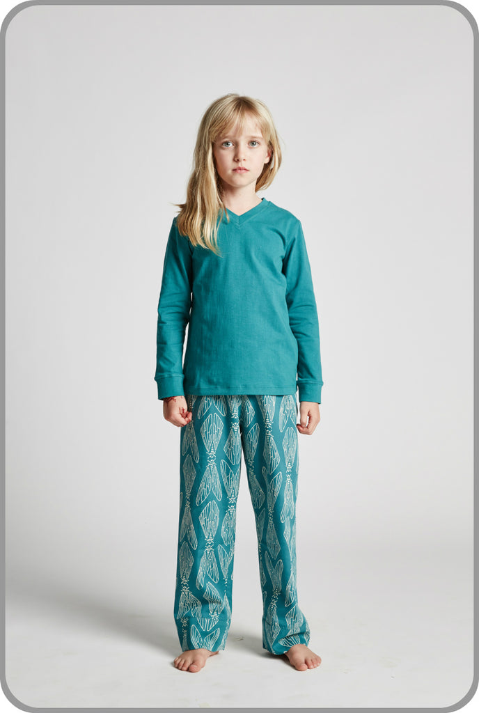 Emerald Cicada - Unisex - Long Sleeve Tee with Pants Set