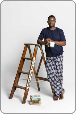 Men's Organic Cotton Vegan Pyjamas - Reuben Pants with Tee Set