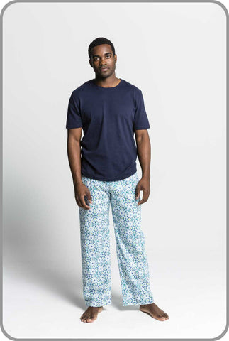 Men's Organic Cotton Sleepwear - Geocache Pants with Tee Set