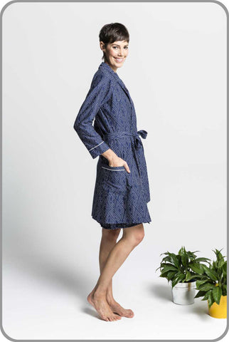 Ladies Vegan Organic Ethical Dreamtime Dressing Gown