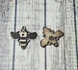 Oxidized Brass Bee Charms (2) - BOS2510