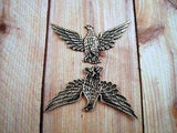 Large Oxidized Silver Plated Brass Eagle Stamping (1) - SOS6783