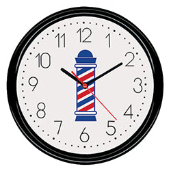 Burmax Barber Pole Clock