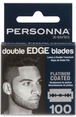 Personna X-Series Platinum Coated Double Edge Razor Blades 100 Pack