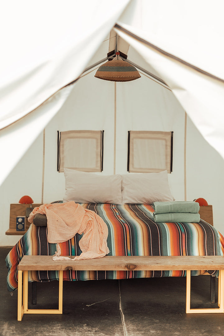 Modern Burlap in Bohemian West Texas Hotel