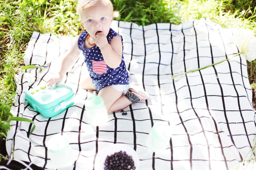 Modern Burlap 4th of July picnic