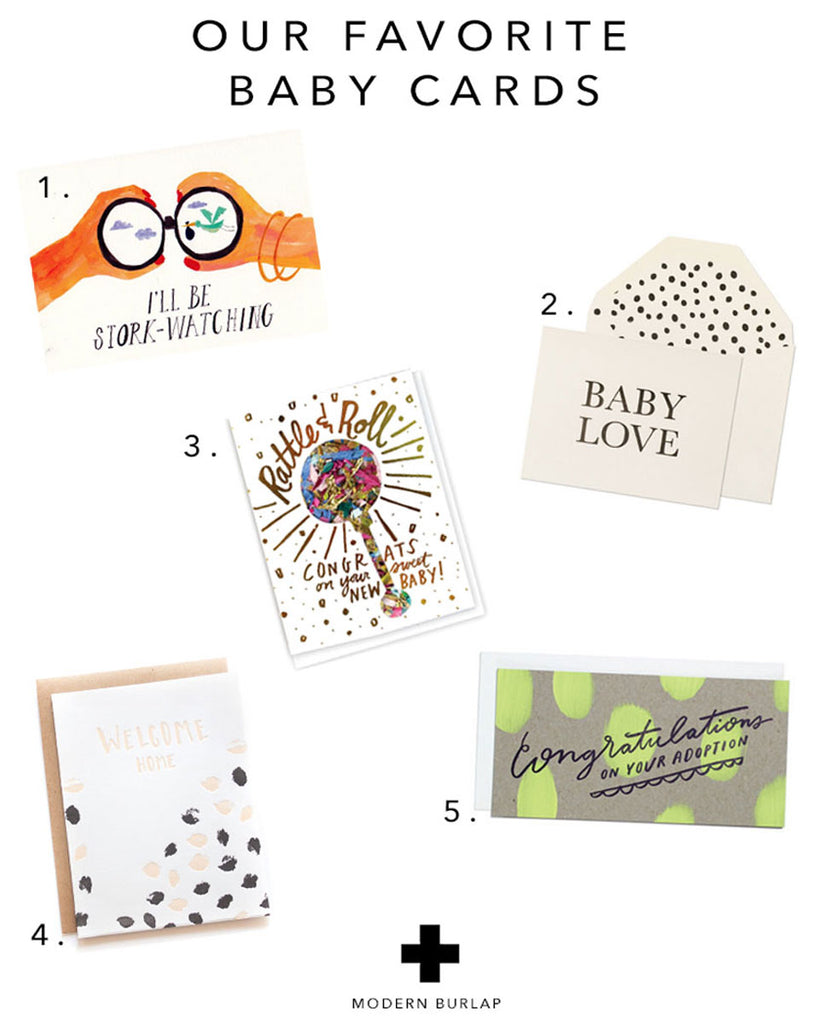OUR FAVORITE BABY CARDS - MODERN BURLAP -