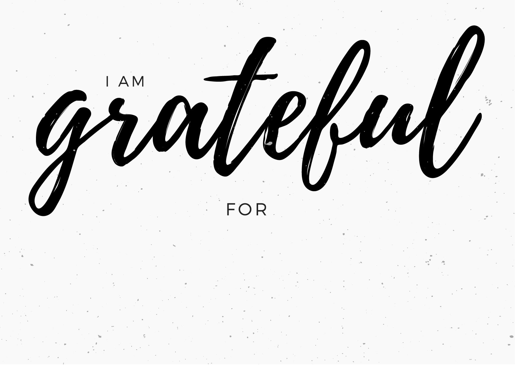 FREE Modern Burlap printable card - I am grateful for