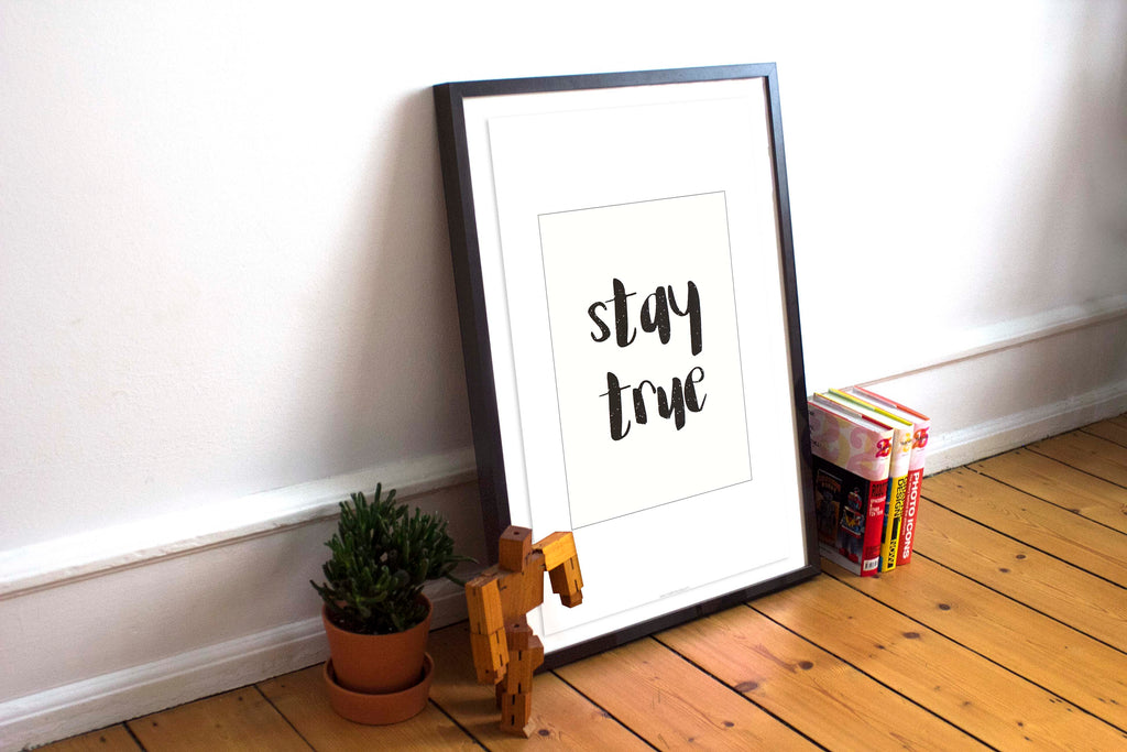 Modern Burlap Free Printable - Stay True