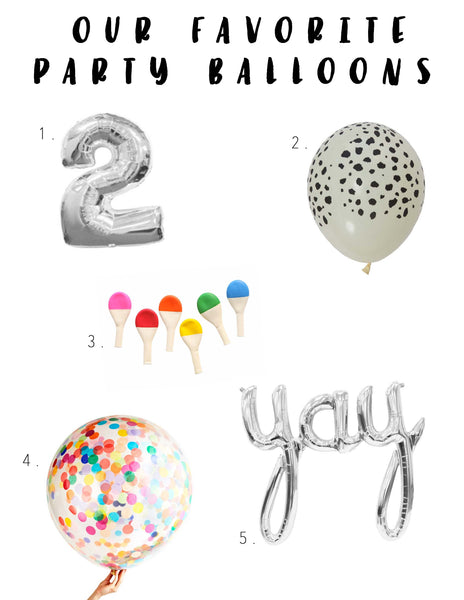 Modern Burlap Loves Party Balloons