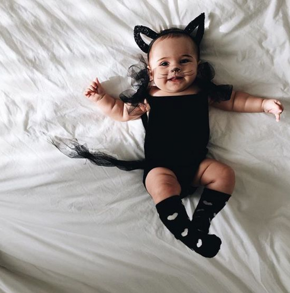 Black kitty cat baby Halloween costume