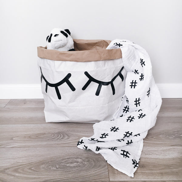 Modern Burlap for Little Standout Hashtag Swaddle