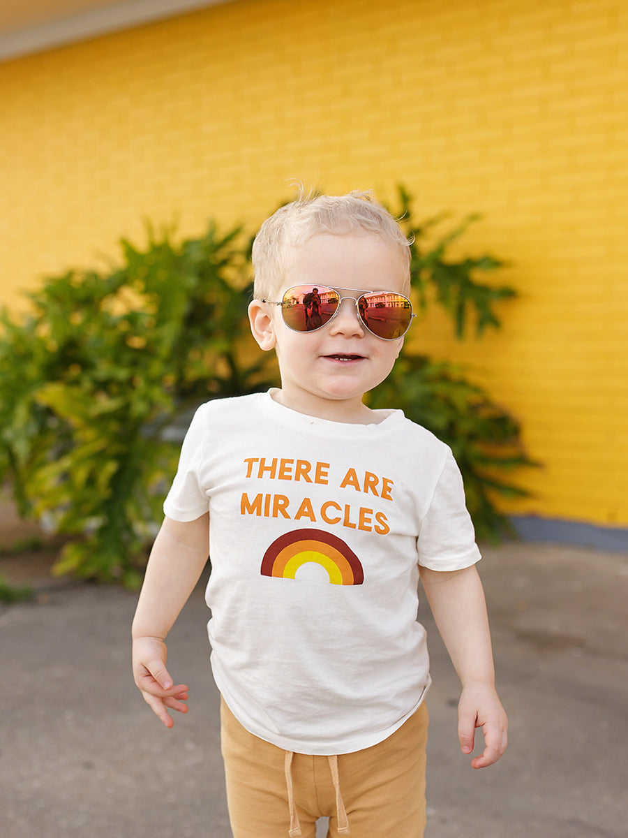 There are miracles Kid's Crewneck Tee