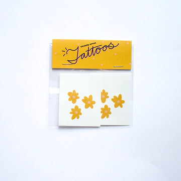 Twenty Seven - Retro Daisy Temporary Tatoo Pack